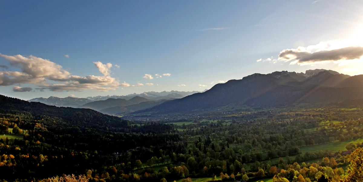 Sicht ins isartal und Karwendel!