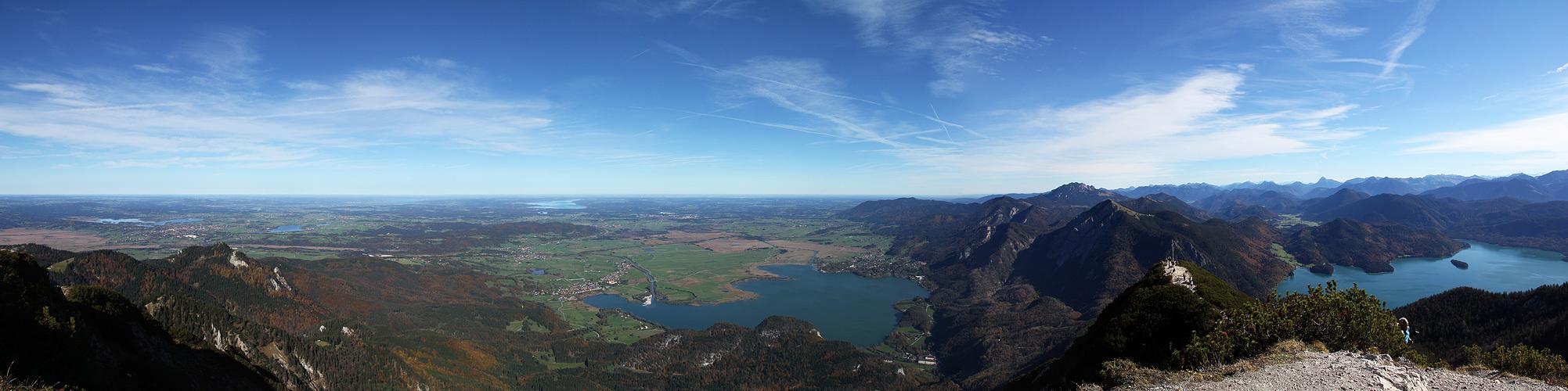 Sicht vom Herzogstand - Schiebepanorama