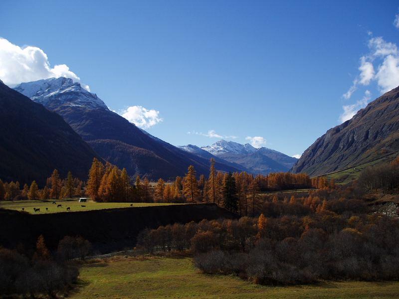 Sicht von Bessans auf die Berge