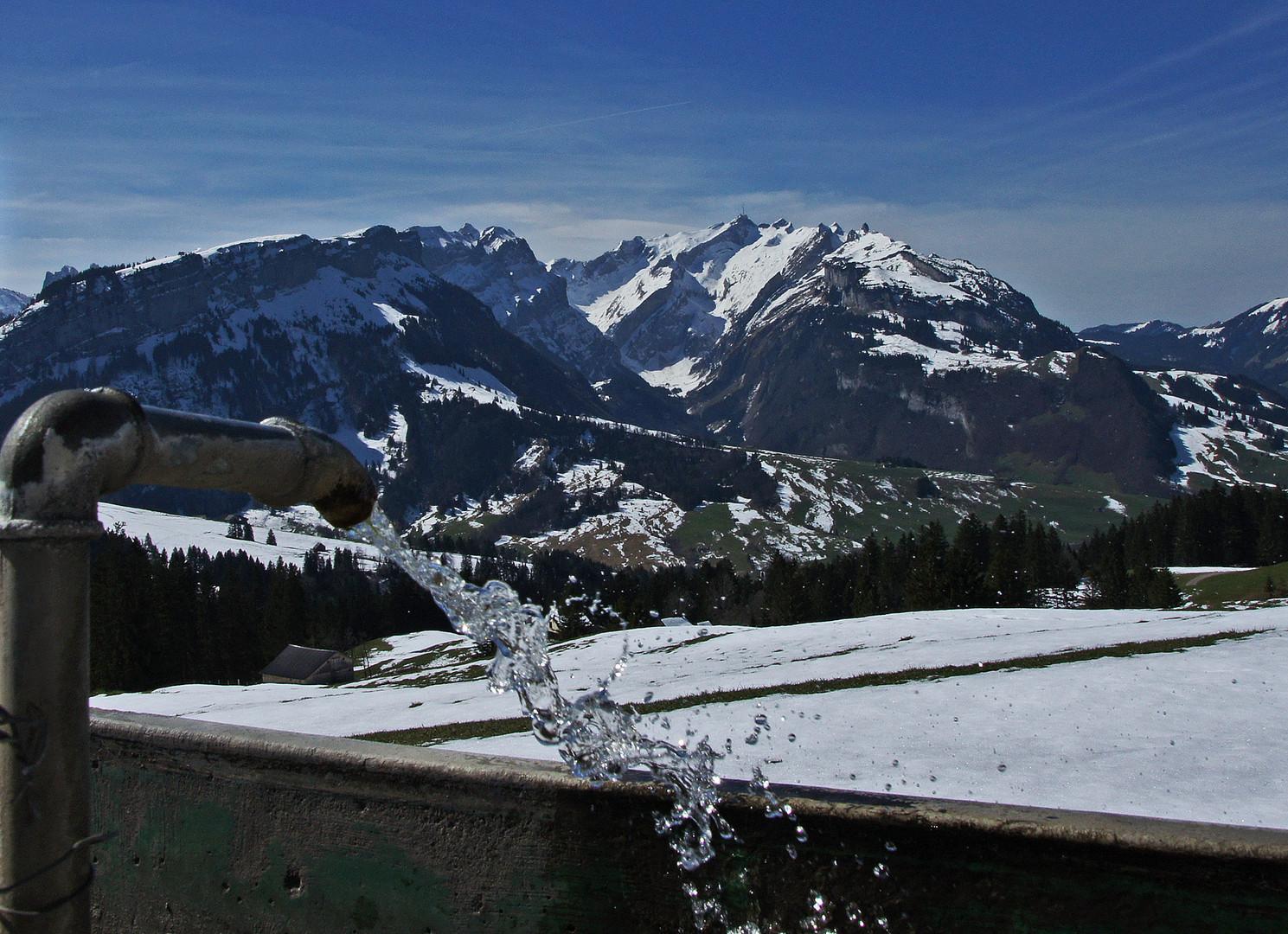 Sichtbarer Fön am Alpstein Schweiz