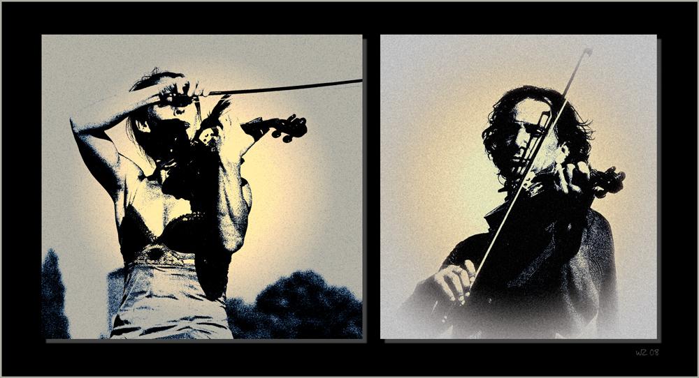 Sie. Er. Die Geige.