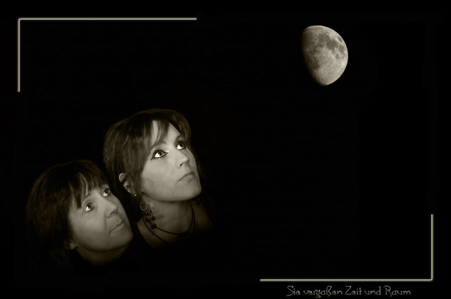 Sie vergaßen Zeit und Raum als sie den hellen Mond erblickten