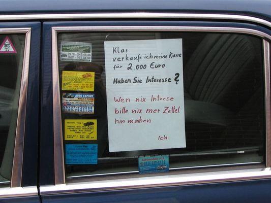 Sie wollen Auto verkaufen ? Rufen Sie mich an !
