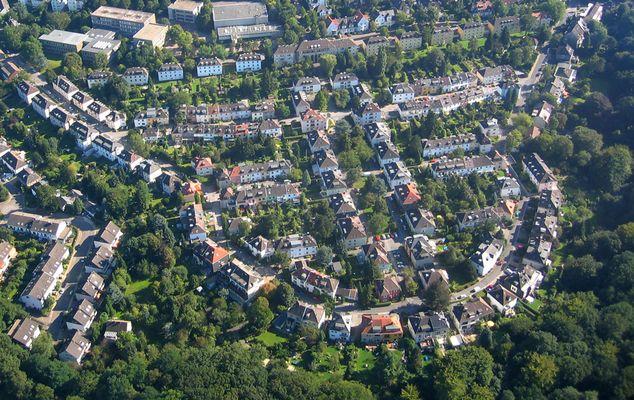 Siedlung Essen Stadtwald / Eyhof - Luftaufnahme