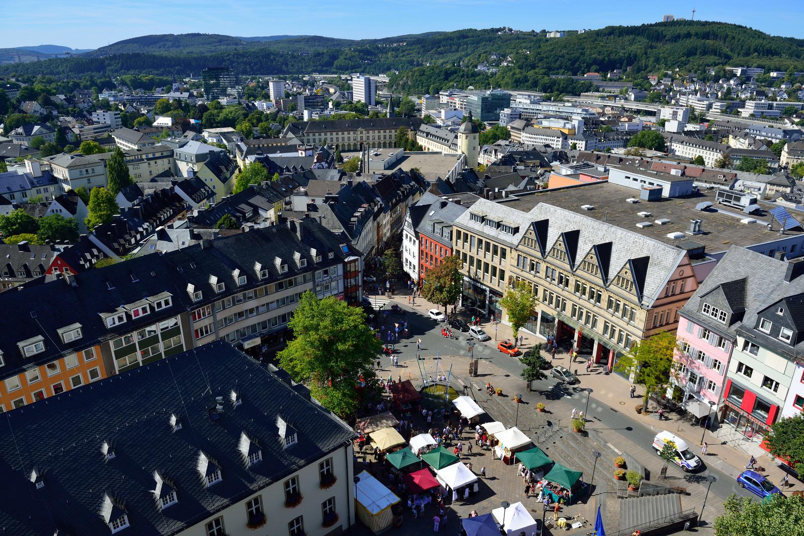 Siegen blick auf den markt foto bild architektur stadtlandschaft historisches bilder auf - Architektur siegen ...