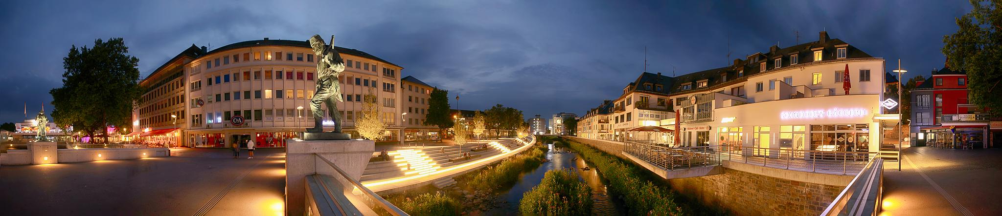 Siegen neues siegufer am abend foto bild panorama architektur siegen bilder auf - Architektur siegen ...