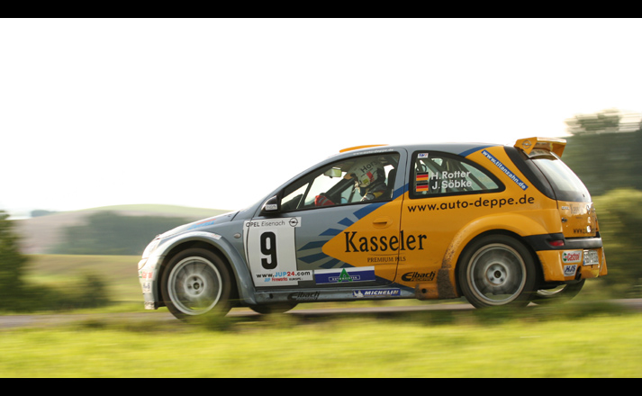 Sieger der Wartburg-Rallye '05 - Horst Rotter, Opel Corsa Super 1600