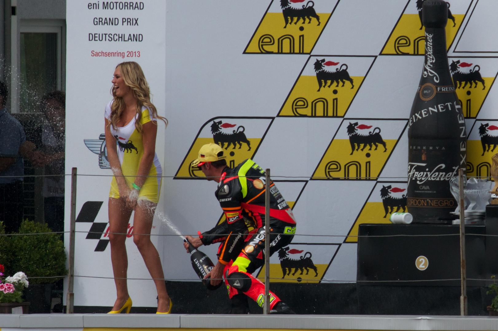 Siegerehrung Moto 2 am Sachsenring 2013
