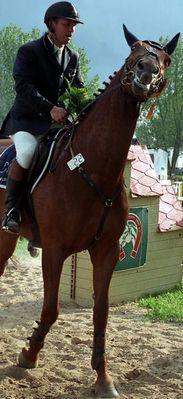 Siegerlächel, da freut sich der Mensch und das Pferd.........