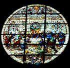 Siena (7) Dom Rosettenfenster im Giebel