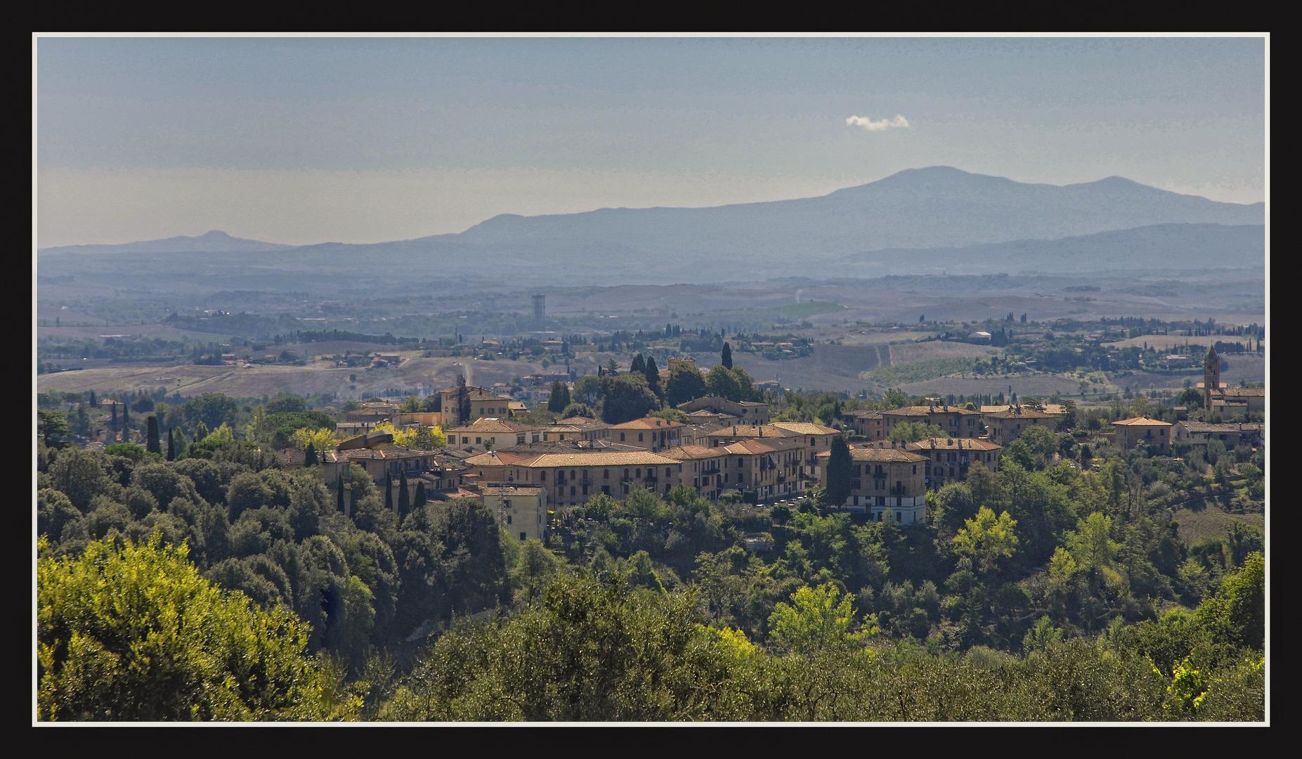 Siena - Blick in die Toskana