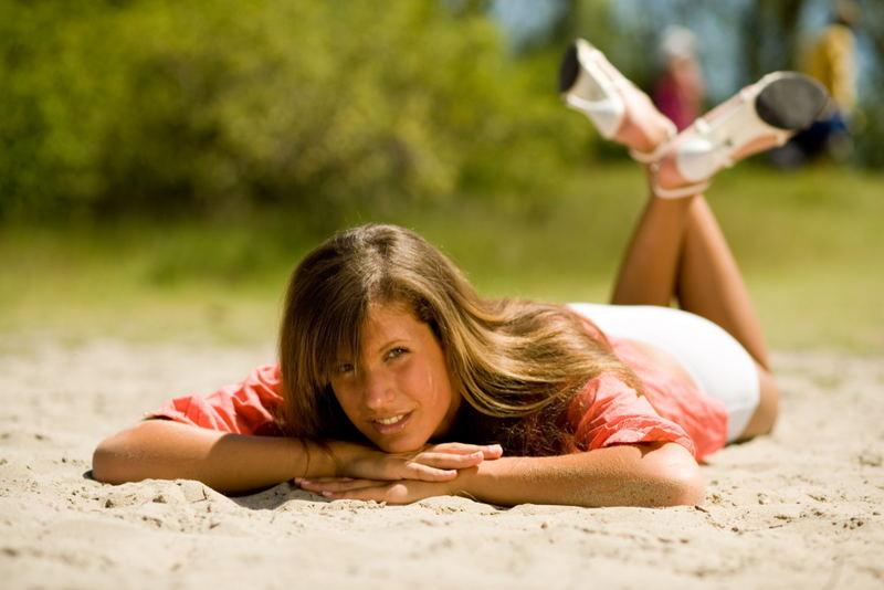 Siesta im Sand