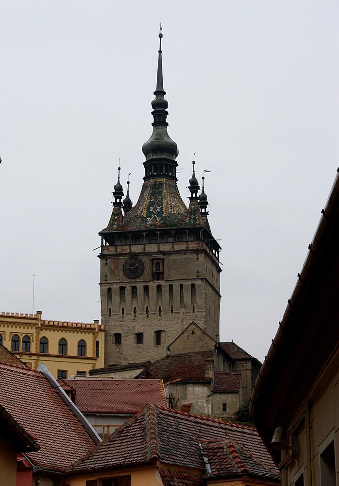 Sighisoara (Schässburg) Der Stundenturm Wahrzeichen dieser Stadt s.u.