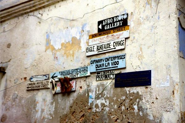 signs @  Stone Town