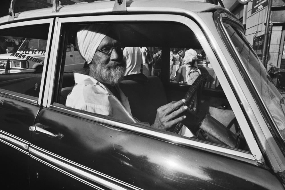 Sikh im Taxi