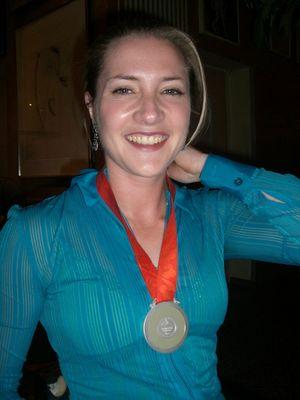 Silbermedaillengewinnerin bei den Paralympics 2008 im Rollstuhlbasketball