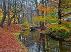 Silence. Seulement les feuilles flotte sur l'eau de la riviere