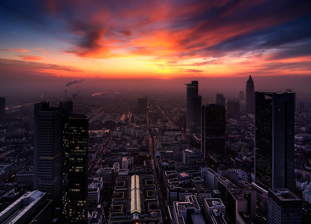 silhouette urbaine a Frankfurt