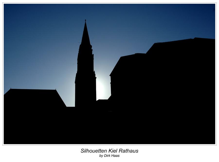 Silhouetten - Rathaus in Kiel