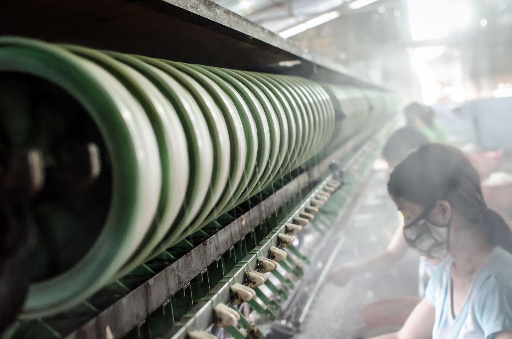 silk factory near Dalat, Vietnam