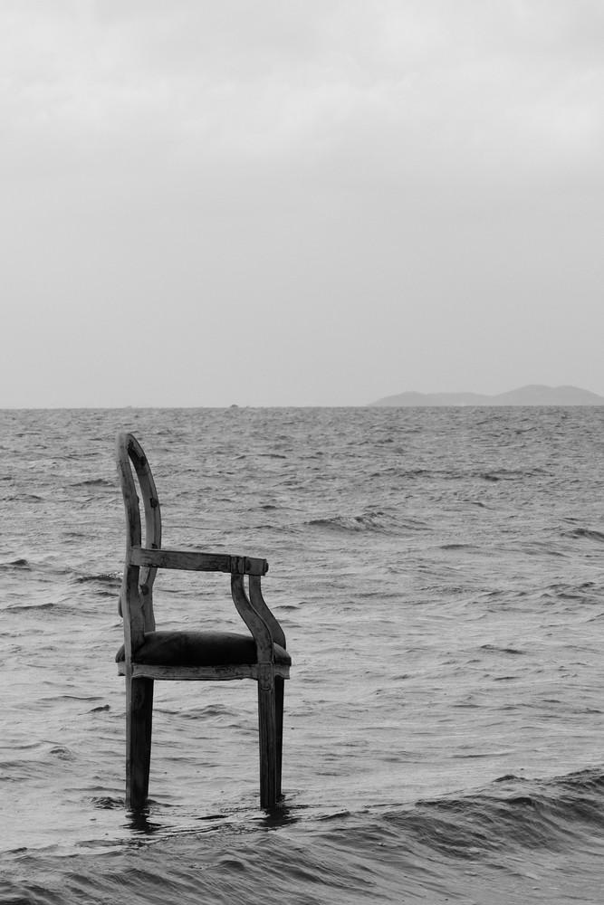 Sillón en el mar