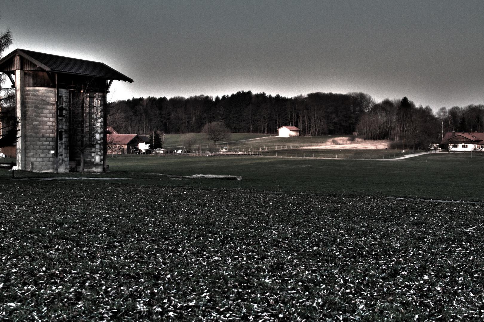 Silos am Feld