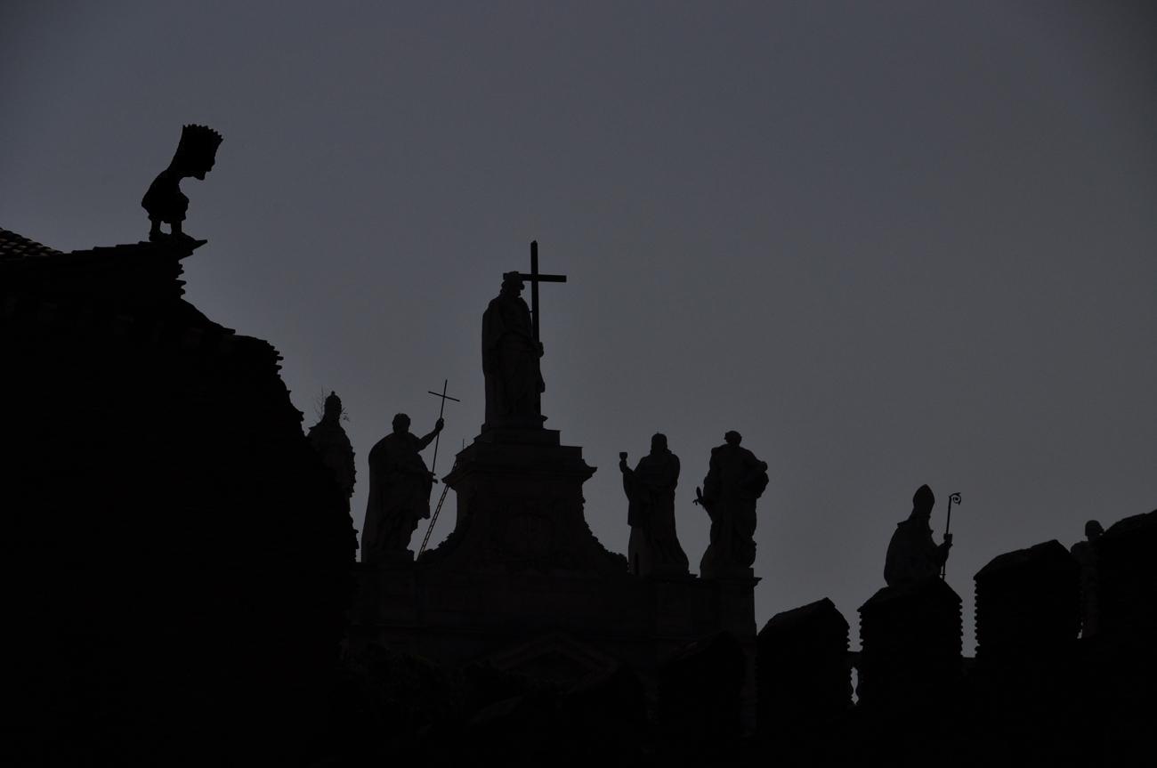 Siluetas en Roma ( dedicada a Alfonso Diaz y a Jorge R.Mesias)