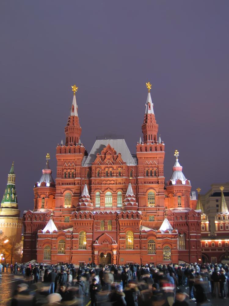 Silvester auf dem Roten Platz