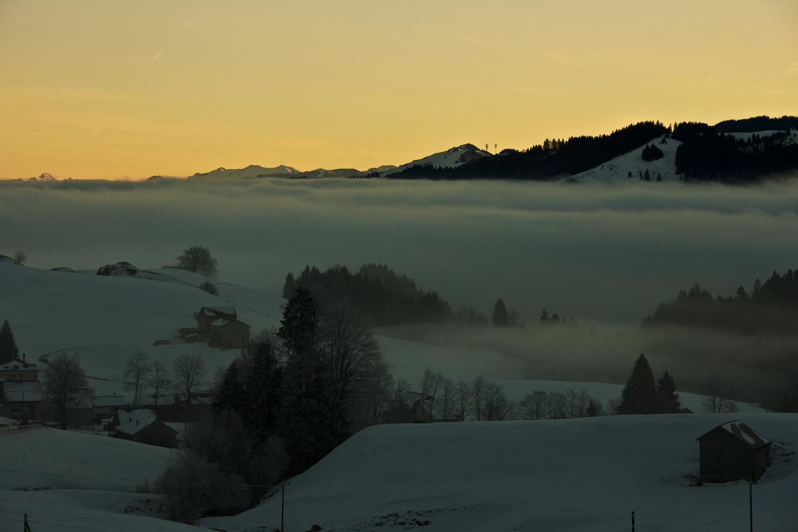 Silvester kurz vor Sonnenaufgang