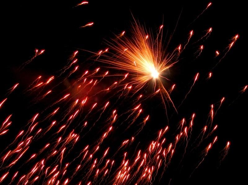Silvesterfeuerwerk in Halle