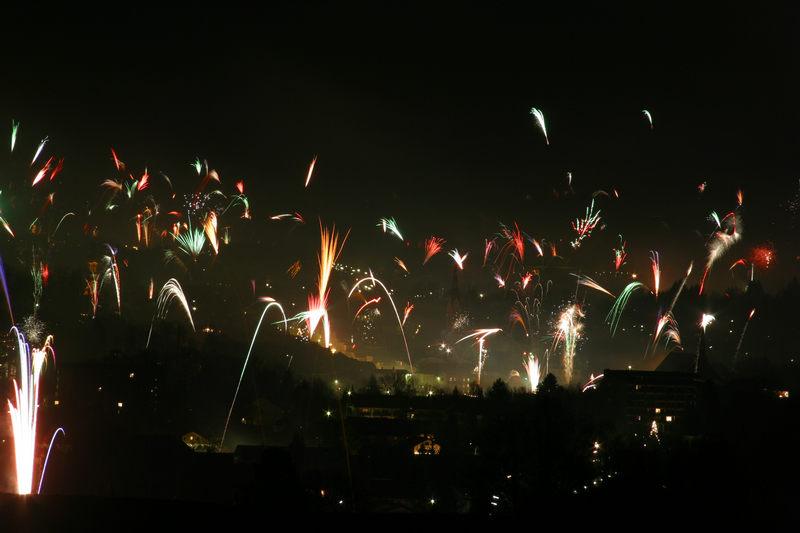 Silvesterfeuerwerk über Bad Tölz