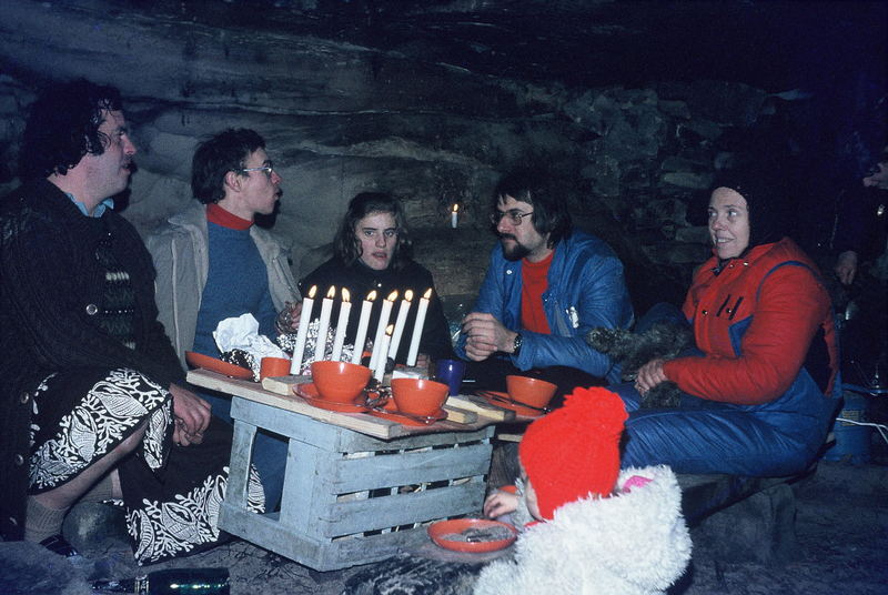 Silvesterparty 1977 in Fontainebleau (1)