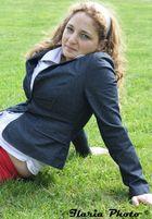 Simona sull'erba