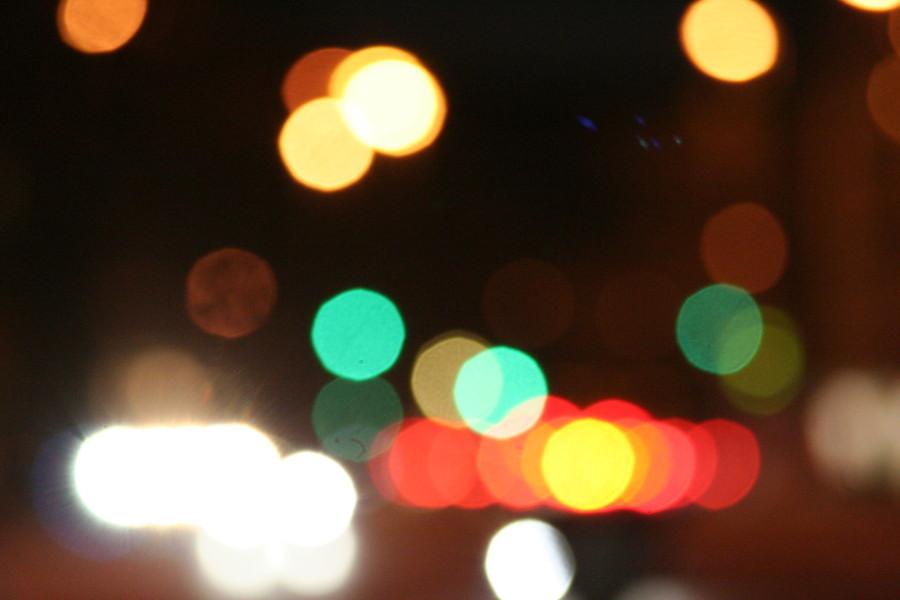 Simple nächtliche Lichtspiele