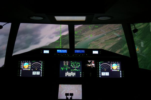 Simulatorflug in der Uni über dem Tegernsee