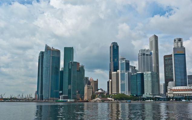 Singapore, das Finanzzentrum