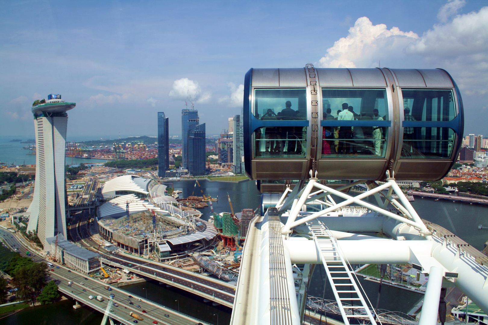 Singapore Flyer on the top