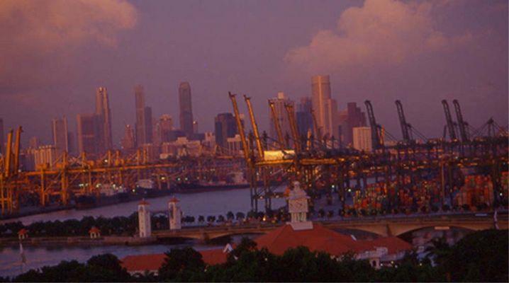 Singapore Hafen