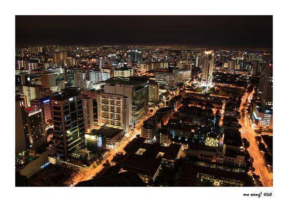 Singapore @ Night from Stamford
