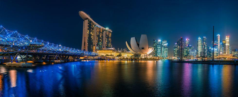 Singapur - Skyline Marina Bay