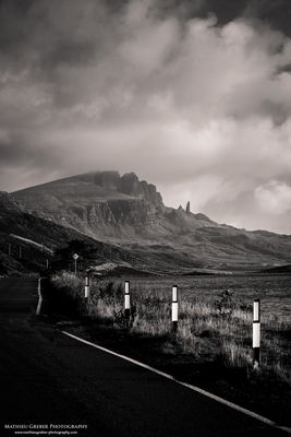 Single Track Road to the Old Man of Storr