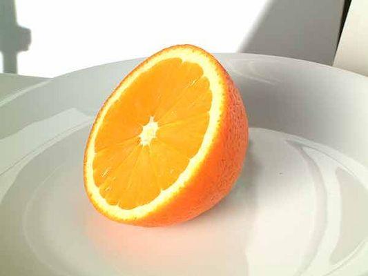 Sinnfreie Orange