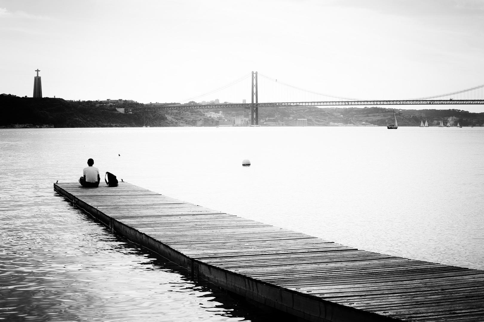 Sinnieren am Tejo Ufer