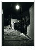 Siphnos-Apollonia bei Nacht - Schwarzweiss