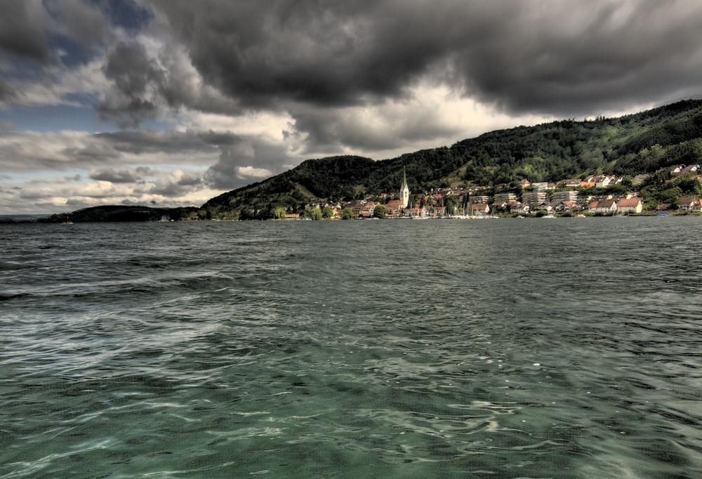 Sipplingen von der Seeseite HDR aus der Hand.