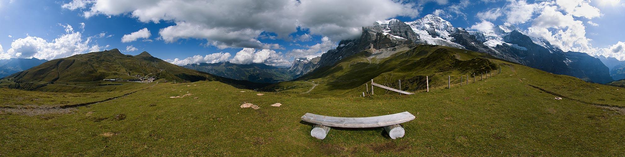 Sitzbank an der Eiger Nordwand