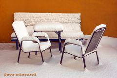 Sitzgelegenheiten für Schnee