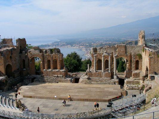 """""""SIZILIEN"""" antikes griechisch/römisches Theater in """"Taormina"""""""