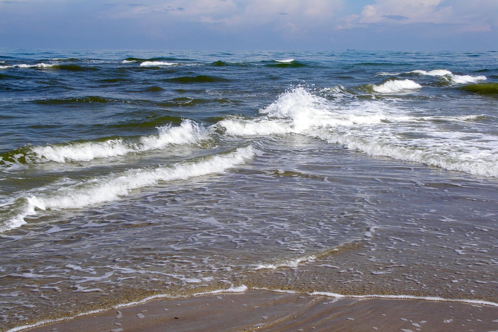 Skagen - Nord- und Ostssee stoßen zusammen.