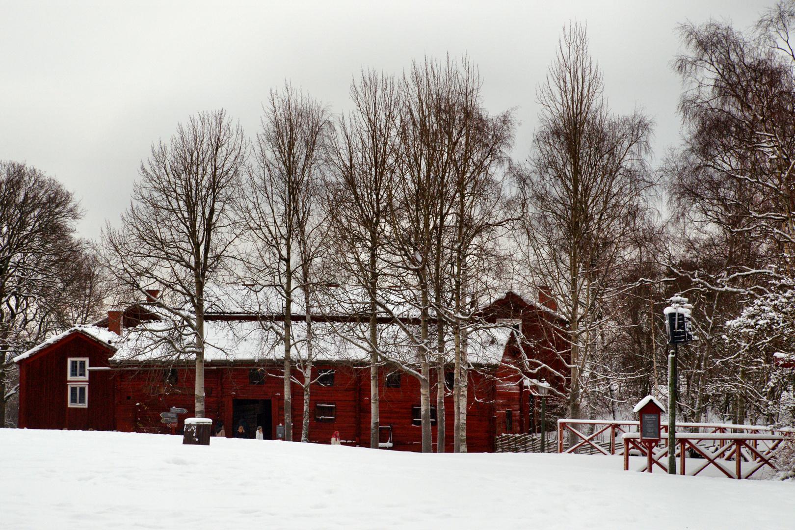 Skansen im Winter